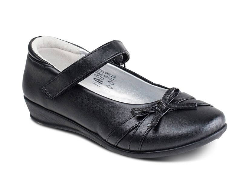 US Brass Girls Shoes – Drizzle (Patent)